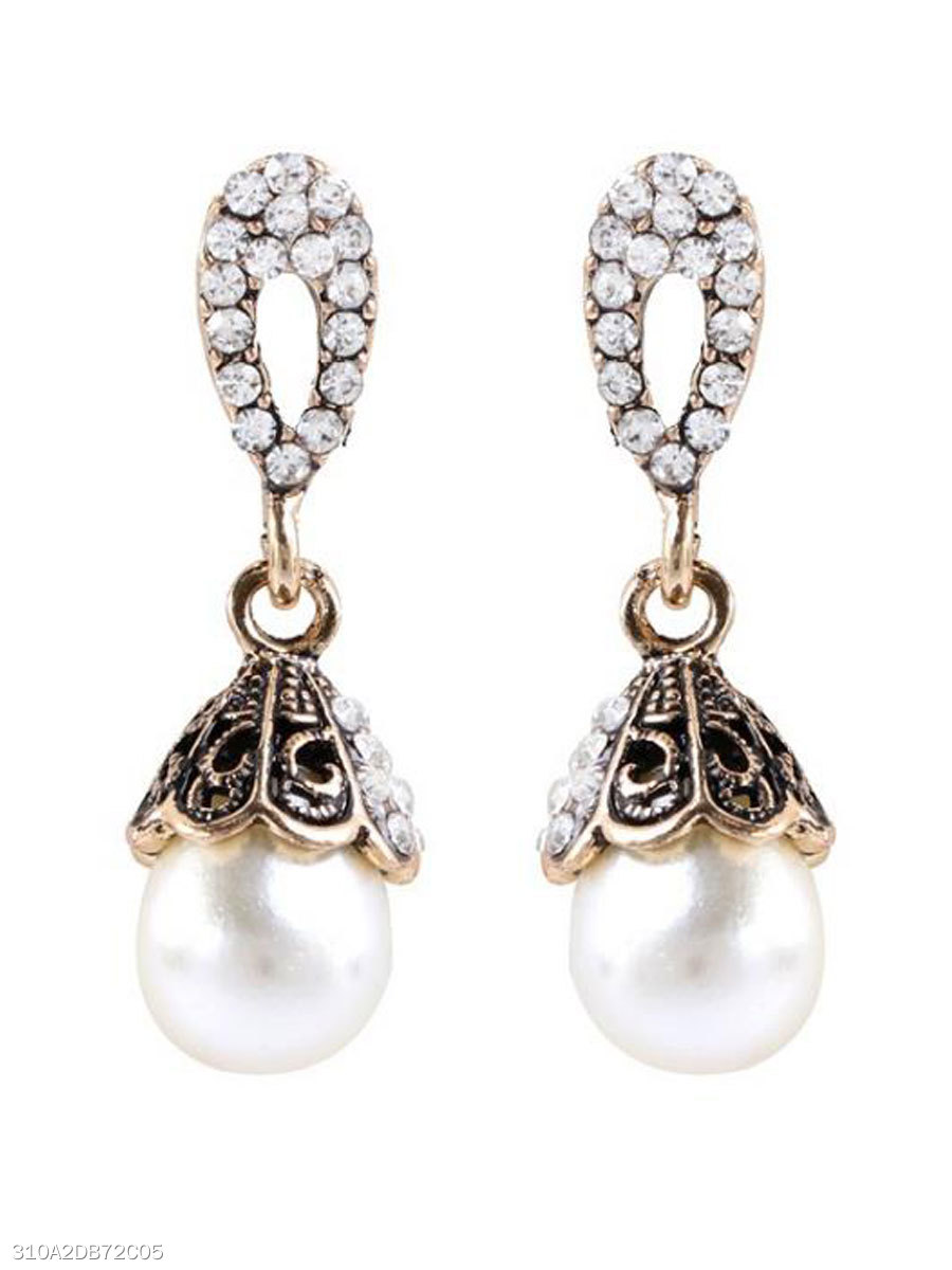 Faux beads Elegant Earrings For Women