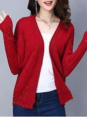 Knitted Sweater Yellow Red