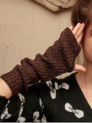 Winter Thick Warm Long Knitted Gloves