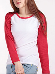 Autumn-Spring-Cotton-Round-Neck-Patchwork-Plain-Long-Sleeve-T-Shirts
