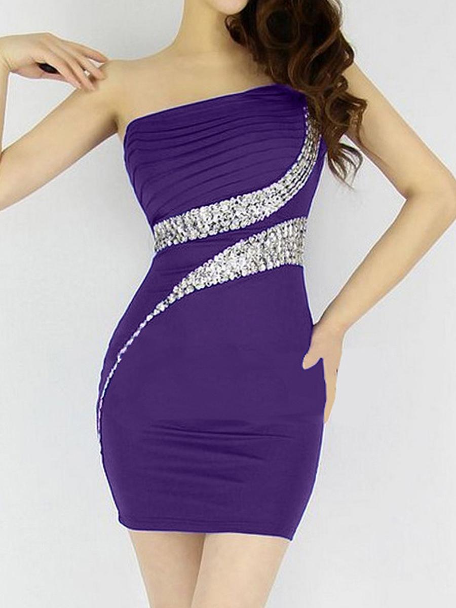 Open Shoulder  Plain Bodycon Dress