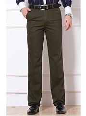 Plain-Pocket-Straight-Mens-Casual-Pants