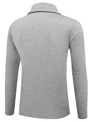 Turtleneck  Drawstring Men Plain T-Shirt