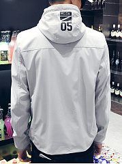 Hooded Pocket Printed Men Coat