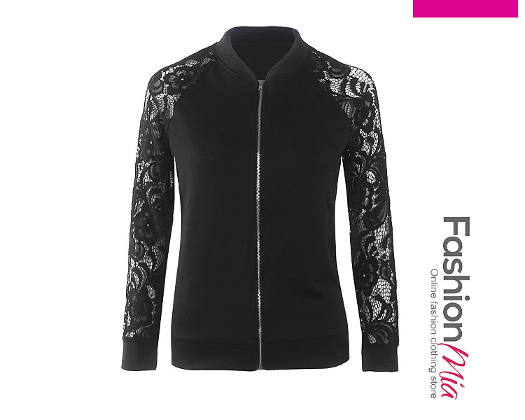 gender:women, hooded:no, thickness:thick, brand_name:fashionmia, outerwear_type:jacket, style:casual,fashion, material:polyester, collar&neckline:band collar, sleeve:long sleeve, embellishment:zips, pattern_type:plain, occasion:basic,daily,event, season:autumn,spring, package_included:top*1, lengthsleeve lengthbust