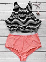 Round-Neck-Striped-Bikini