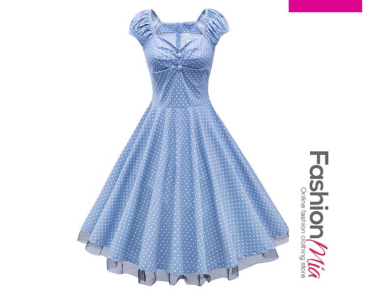 Sweet Heart Polka Dot Vintage Skater Dress 31B4E6D4E2FD