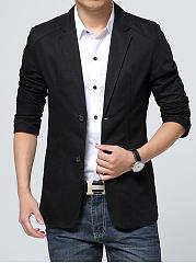 Notch-Lapel-Patch-Pocket-Solid-Men-Blazer