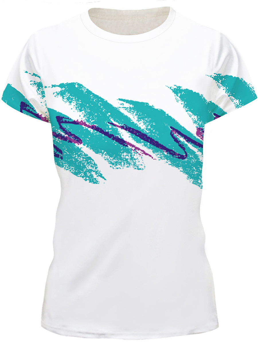 Round Neck Casual Printed Short Sleeve T-Shirt