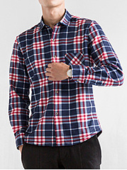 Men-Plaid-Fleece-Lined-Patch-Pocket-Shirts