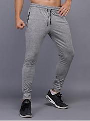 Fitted-Men-Sport-Elastic-Waist-Zips-Jogger-Pants