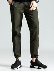 Flap-Pocket-Plain-Mens-Casual-Jogger-Pants