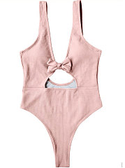 Sexy Backeless Plain One Piece For Women