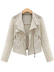 Lace-Hollow-Solid-Blazer
