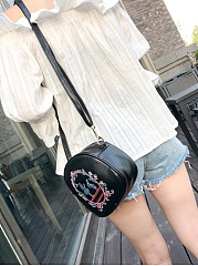 Fashion Cute Embroidery Stylish PU Crossbody Bag