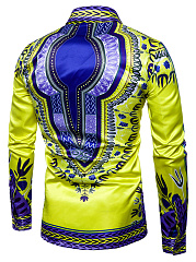 Men Multi-Color Tribal Printed Shirts