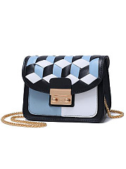 Simple Stylish Fashion Patchwork Mini Crossbody Bag