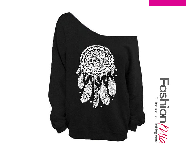 Autumn Spring  Polyester  Plain Printed  Long Sleeve Sweatshirts