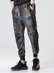 Abstract-Print-Pocket-Mens-Casual-Pegged-Pants