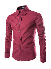 Asymmetric Designed Men's Shirt