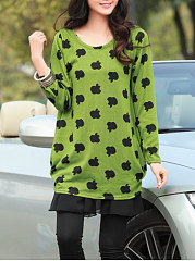 Round-Neck-Printed-Long-Sleeve-T-Shirts