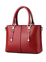 Plaid Embossed Pu Shoulder Bag