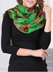 Abstract Printed Long Beach Scarf