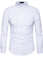 Office-Patch-Pocket-Plain-Men-Shirts