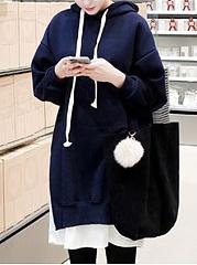 Plain-Plus-Cashmere-Long-Sleeve-Hoodies