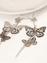 Butterfly Shape Elegant Metal Earrings For Women