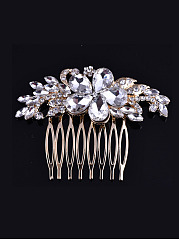 Faux Crystal Gold Luxury Hair Comb