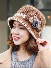 Knit Crochet Floral Hats