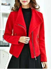 Lapel-Zips-Plain-Woolen-Jacket