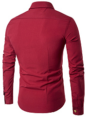 Turn Down Collar  Double Breasted  Plain  Cuffed Sleeve  Long Sleeve Long Sleeves