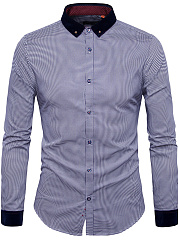 Button-Down-Collar-Polka-Dot-Men-Shirt