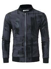 Band-Collar-Pocket-Printed-Men-Jacket