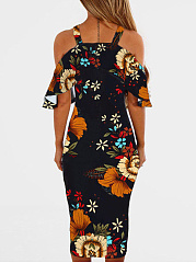 Halter  Abstract Print Bodycon Dress