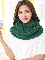 Fashion Winter Warm Knitted Plain Long Wrap Scarf