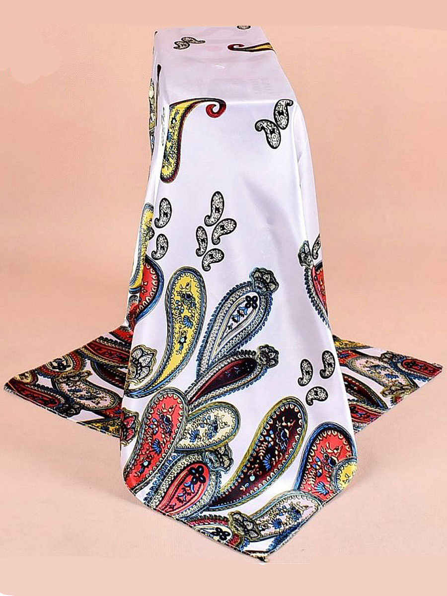 Women Print Square Scarves Fashion  Headscarf Multi-Function Hair Belts Soft Towel