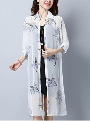 See-Through-Single-Breasted-Floral-Longline-Kimono