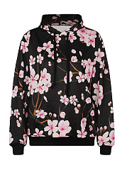Autumn Spring  Polyester  Printed  Long Sleeve Hoodies