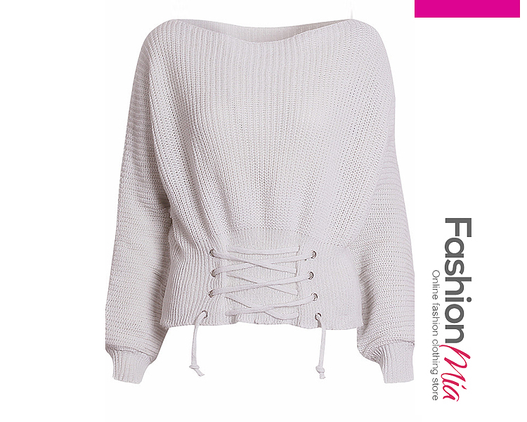 gender:women, hooded:no, thickness:regular, brand_name:fashionmia, style:elegant*fashion, material:knit, collar&neckline:round neck, sleeve:long sleeve, embellishment:drawstring, pattern_type:plain, how_to_wash:cold  hand wash, occasion:basic*daily, season:autumn*winter, package_included:top*1, lengthsleeve lengthbust