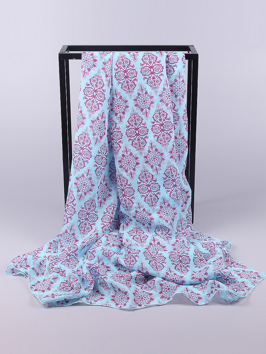 Chiffon Blue-And-White Porcelain Scarves