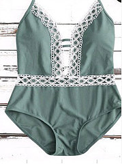 Thick Halter One-Piece Swimsuit