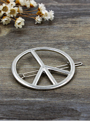 Peace Sign Shape Hair Clip