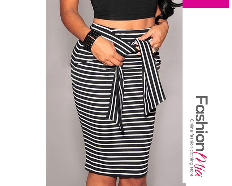 Image of New Style Striped Sexy Maxi Skirts For Women