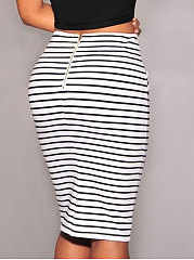 New Style Striped Sexy Maxi Skirts For Women