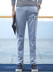 Elastic-Waist-Printed-Slim-Leg-Mens-Casual-Pants