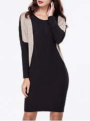 Color Block Batwing Mini Shift Dress