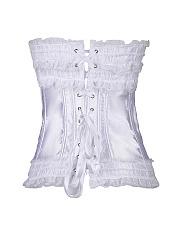 Women Sexy Bowknot  Lace Up Bustier Waist Training Shapers Corset Overbust Corsets